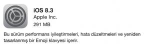 ios 8.3 Güncellemesi